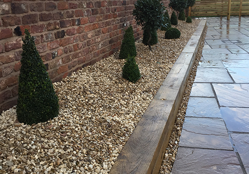 landscaping and garden structures